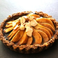 Pear, Prune & Almond Tart