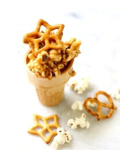 Caramel Popcorn Pretzel Cups