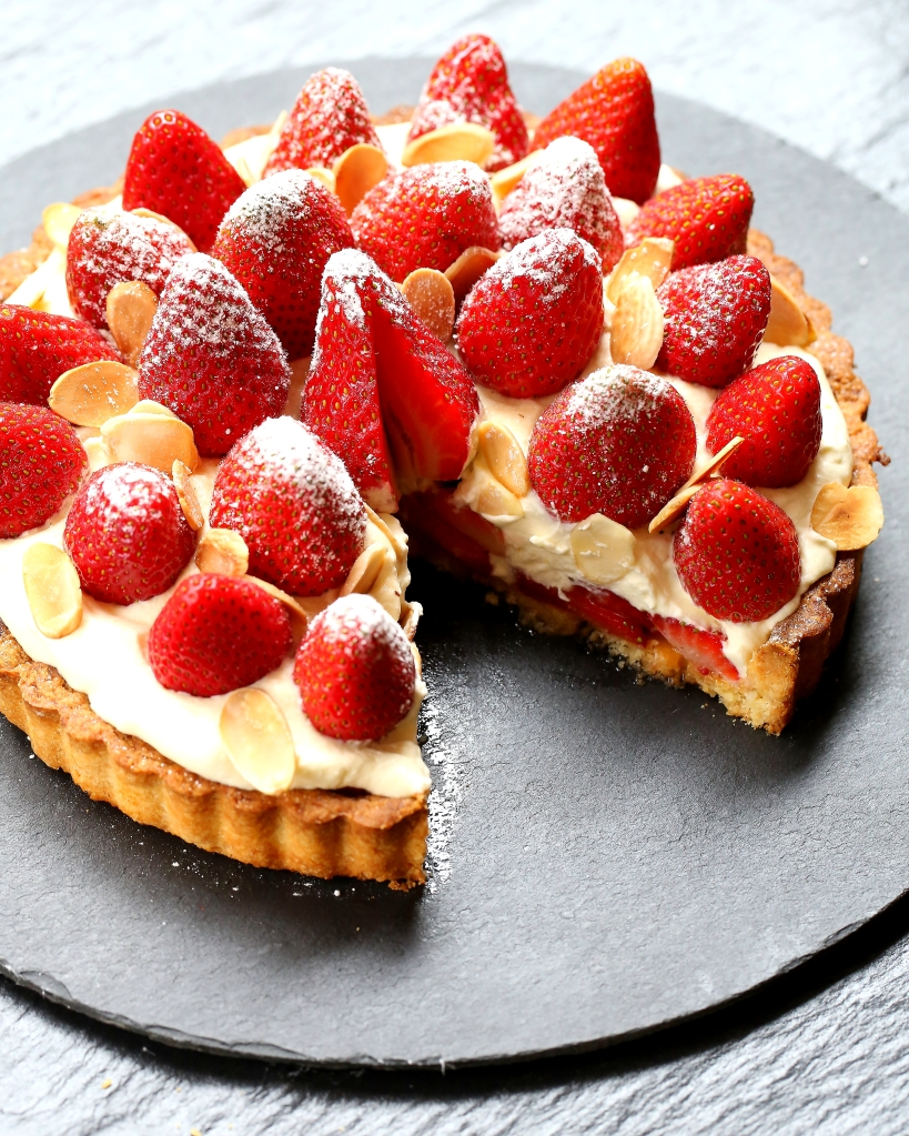 Strawberries & Cream Tart