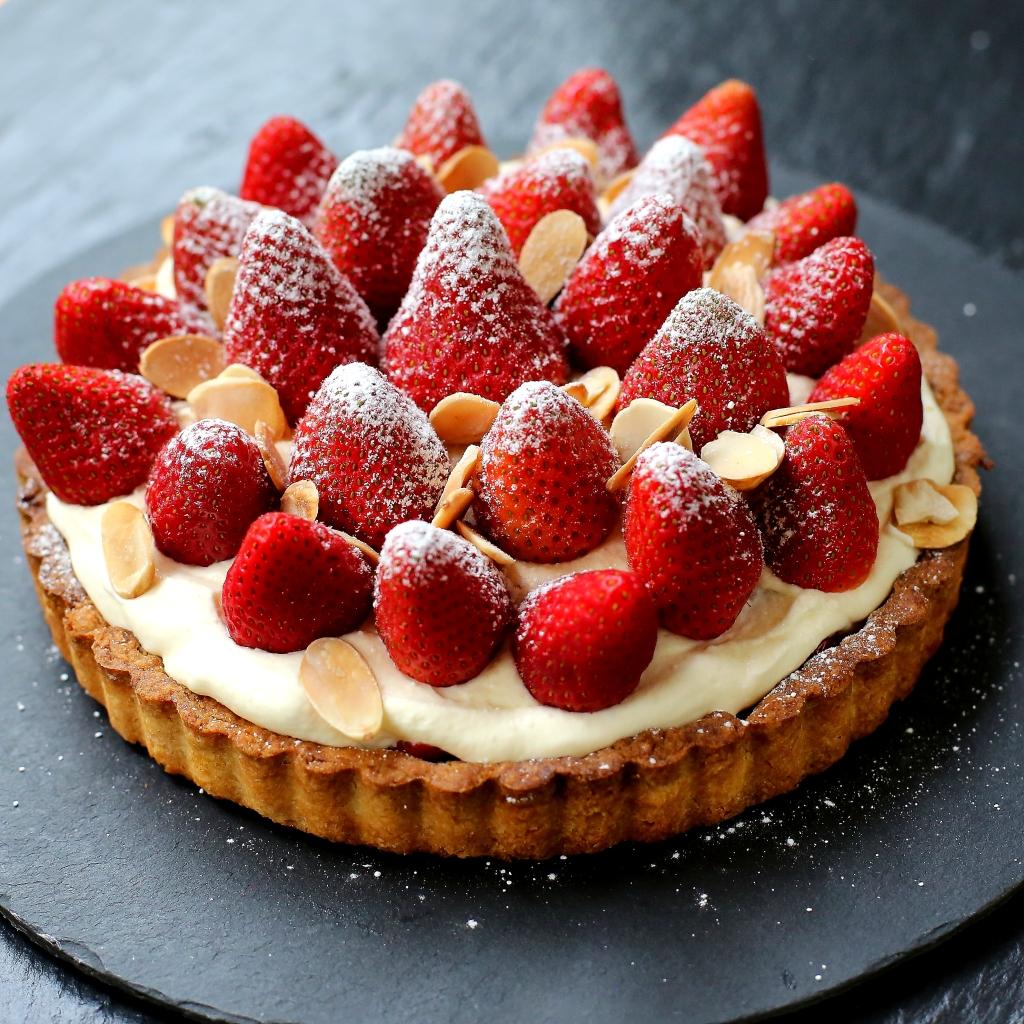 Strawberries & Cream Tart