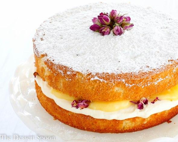 Lemon Rosewater Sponge