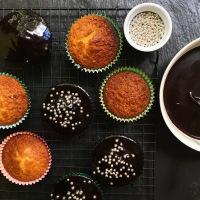 Orange Cake with Chocolate Glaze